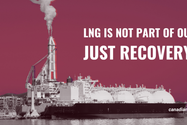LNG is not part of our just recovery